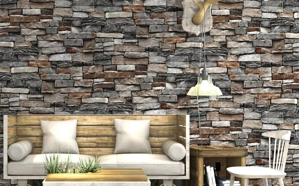 Industrial brick effect